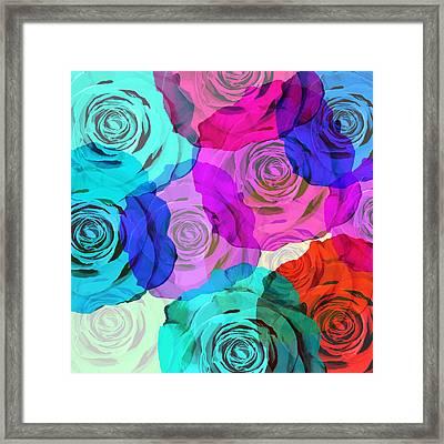 Colorful Roses Design Framed Print by Setsiri Silapasuwanchai