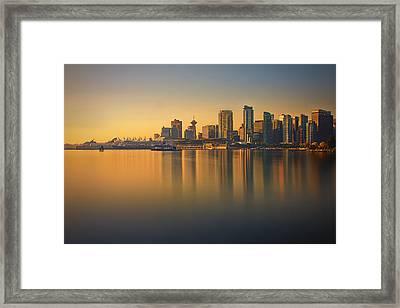 Colorful Sunrise Framed Print by Jorge Ligason