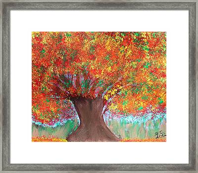 Colors Of Fall Framed Print by Paulette Ingersoll