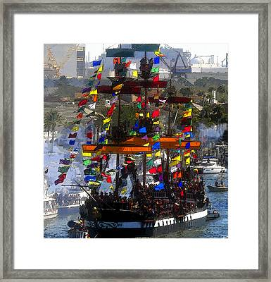 Colors Of Gasparilla Framed Print by David Lee Thompson