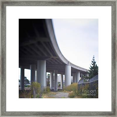 Columns Supporting Freeway Overpass Framed Print by Eddy Joaquim