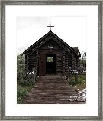 Come In And Pray Framed Print by Patricia Januszkiewicz