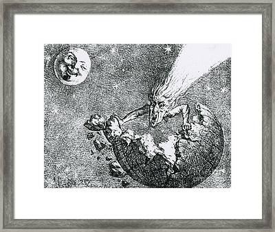 Comet Apocalypse, 1857 Framed Print by Science Source