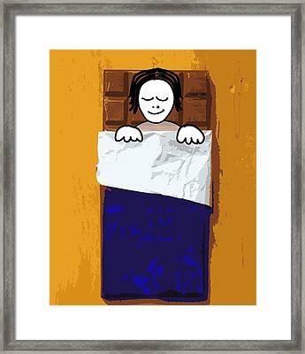 Comfort Eating, Conceptual Image Framed Print