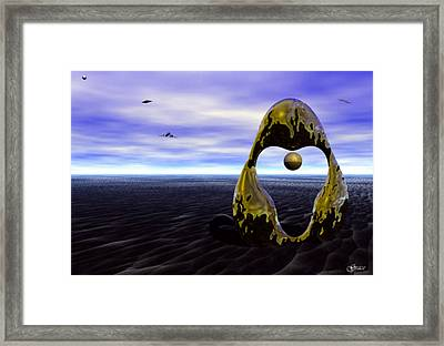 Coming Back For The Treasure Framed Print by Julie Grace