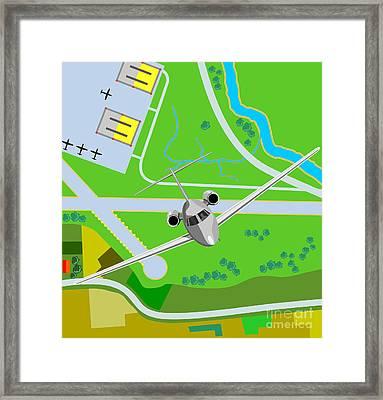 Commercial Jet Plane Framed Print by Aloysius Patrimonio