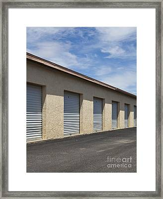 Commercial Storage Facility Framed Print by Paul Edmondson