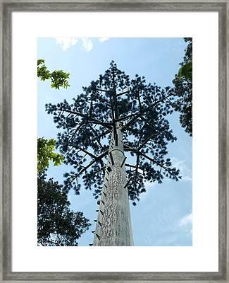 Communication Mast Framed Print