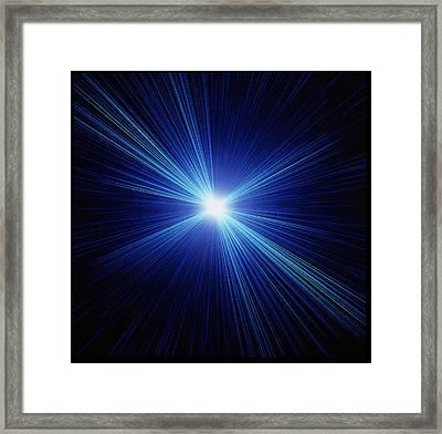 Computer Artwork Depicting The Big Bang Explosion Framed Print
