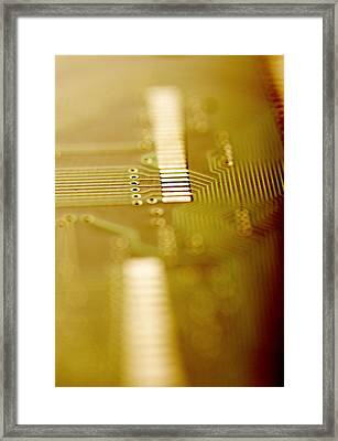 Computer Circuit Board Framed Print by Tim Vernonlth Nhs Trust