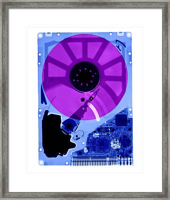 Computer Hard Drive Framed Print by Ted Kinsman
