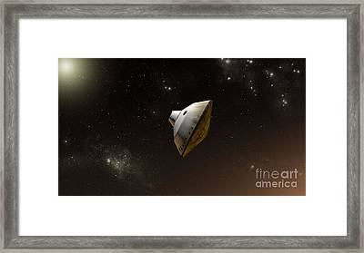 Concept Of Nasas Mars Science Framed Print by Stocktrek Images