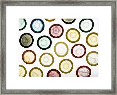 Condoms Framed Print by Lawrence Lawry