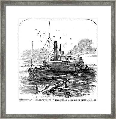 Confederate Ship, 1862 Framed Print by Granger
