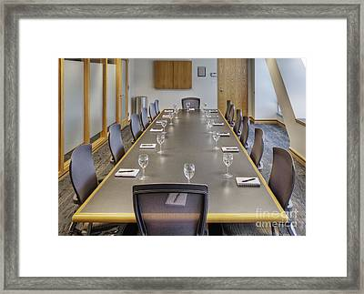 Conference Table And Chairs Framed Print by Andersen Ross