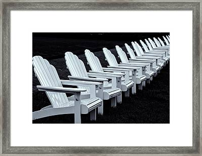 Framed Print featuring the photograph Congress Hall Chairs by Tom Singleton