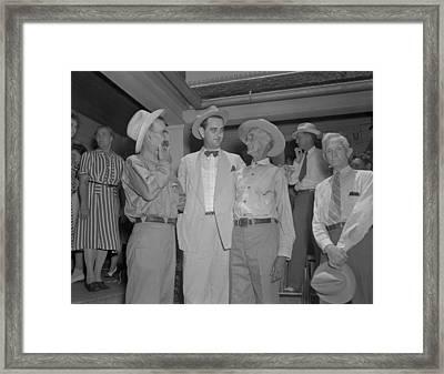 Congressman Lyndon Johnson Campaigning Framed Print