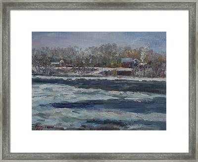 Connecticut River Thaw Framed Print