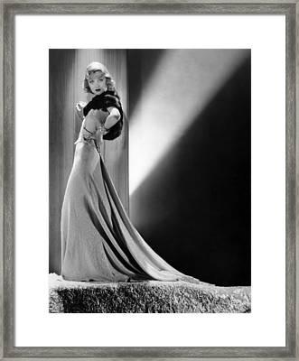 Constance Bennett, Circa 1930s Framed Print by Everett