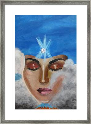Framed Print featuring the painting Contemplation by Diana Riukas
