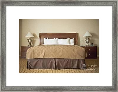 Contemporary Bedroom Framed Print