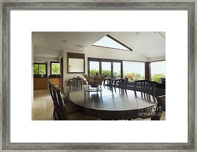 Contemporary Dining Room Framed Print by Inti St. Clair