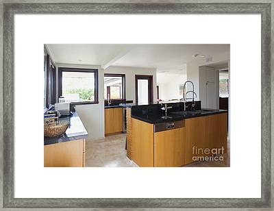 Contemporary Kitchen Interior Framed Print by Inti St. Clair