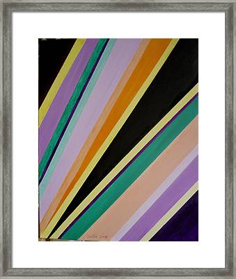 Converging Triangles Framed Print by Harris Gulko