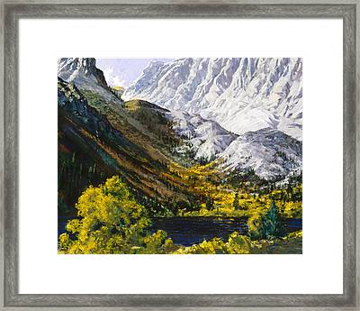 Convict Lake Framed Print by Mark Lunde