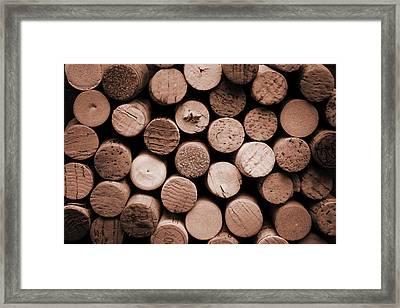 Cork Wine Framed Print by Isabel Poulin