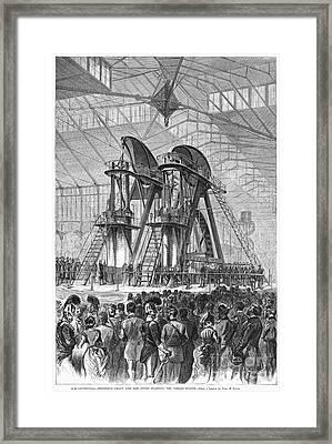 Corliss Steam Engine, 1876 Framed Print