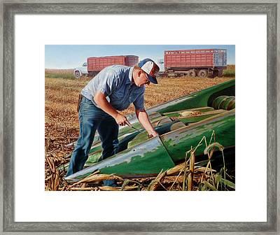 Corn Harvest Framed Print by Hans Droog