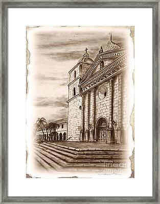 Corner Of The Steps Framed Print by Danuta Bennett