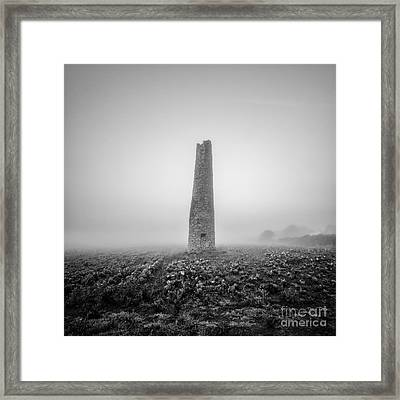 Cornish Mine Chimney Framed Print by John Farnan