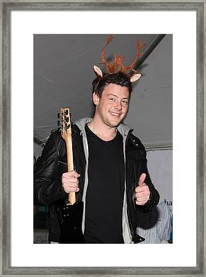 Cory Monteith At In-store Appearance Framed Print by Everett