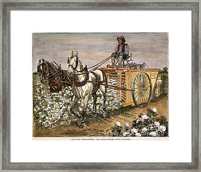 Cotton Harvester, 1886 Framed Print