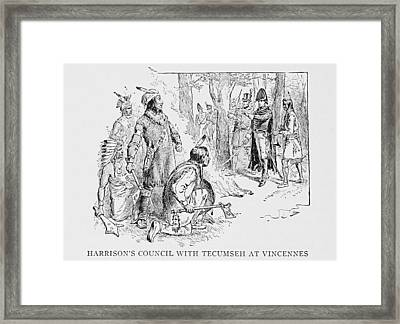 Council Of Vincennes Between General Framed Print by Everett