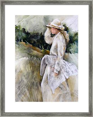 Country Girl Framed Print by Joan  Jones