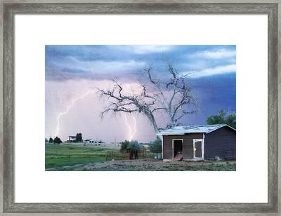 Country Lightning Ne Boulder County Co Fine Art Framed Print by James BO  Insogna