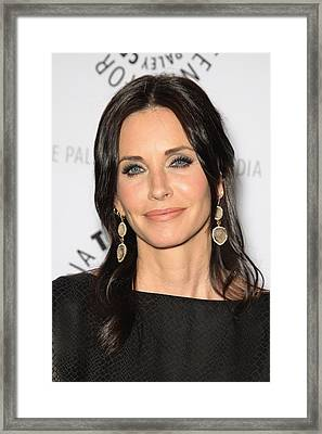Courteney Cox In Attendance For Cougar Framed Print by Everett