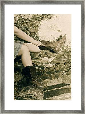 Cowboy Boots Framed Print by Joana Kruse