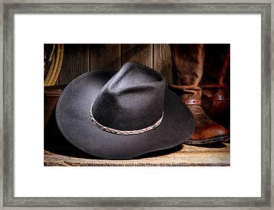 Cowboy Hat Framed Print