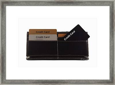 Credit Cards Framed Print