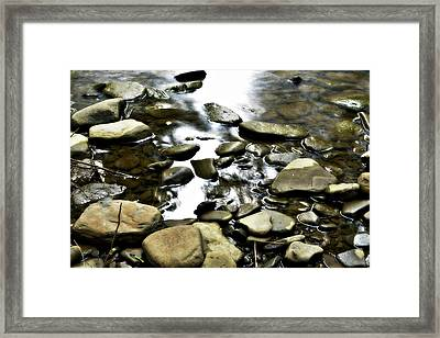 Creekstones Framed Print by Mary Frances