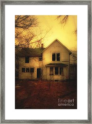 Creepy Abandoned House Framed Print by Jill Battaglia