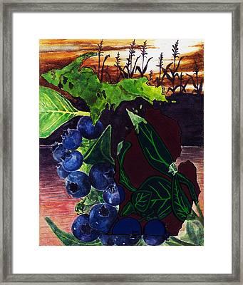 Crops Framed Print by Trisha Moran