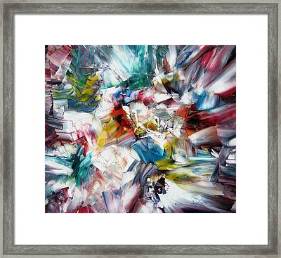 Crystal Layers Framed Print