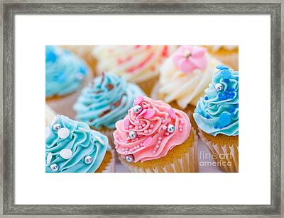 Cupcake Assortment Framed Print by Ruth Black
