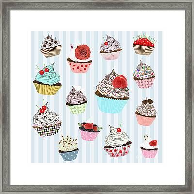 Cupcake  Framed Print by Setsiri Silapasuwanchai