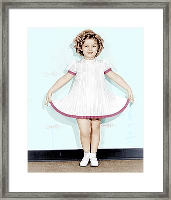 Curly Top, Shirley Temple, 1935 Framed Print